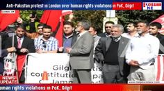 Anti-Pakistan protest in London over human rights violations in PoK Gilgit