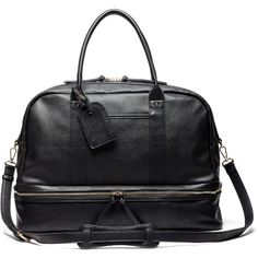 Sole Society Mason Vegan Travel Satchel ($80) ❤ liked on Polyvore featuring bags, luggage and new black
