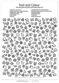 4 Free Printable Christmas Worksheets Free Printable Christmas Find and Colour Activity √ Free Printable Christmas Worksheets . Free Printable Christmas Resources for and Includes Christmas Worksheets, Free Christmas Printables, Christmas Games, Christmas Colors, Kids Christmas, Free Printables, Kids Printable Activities, Christmas Doodles, Christmas Activities For Kids