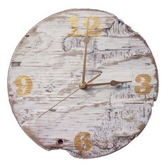 Driftwood Clock. Just need to darken numbers a bit.