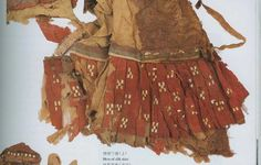 Photo of silk skirt with gold leaf.  This picture comes from the book Xinjiang Gushi: Gudai Xinjiang Juminji Qi Wenhua  (The Ancient Corpses of Xinjiang: The Peoples of Ancient Xinjiang and their Culture)
