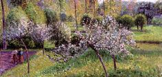 Camille Pissarro, Alberi di melo in fiore Apple trees in flower - Eragny - (1895)