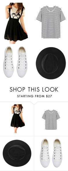 """""""Inspired by Dodie Clark"""" by beatrizcris ❤ liked on Polyvore featuring Converse"""
