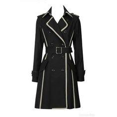 el más reciente 2012 femenino de tafetán trinchera abrigo para las mujeres negro - spanish.alibaba.com
