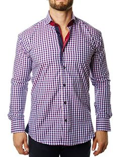 Maceoo Luxury Shirts – Wall Street Red & Blue Check  http://www.beststreetstyle.com/maceoo-luxury-shirts-wall-street-red-blue-check/