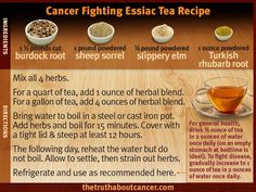 Cancer Fighting Essiac Tea Recipe
