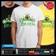 T-Shirt Piala Dunia Rusia 2018 Team Samba Brazil