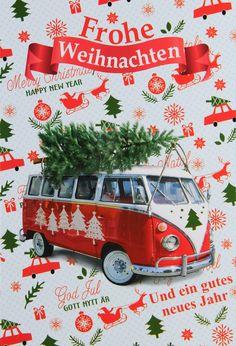 Ein Hauch von Nostalgie... Vw Bus, Banner, Christmas Ornaments, Holiday Decor, Home Decor, Company Logo, Xmas Pics, Advent Season, Papa Noel