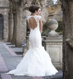 lace wedding gown with open back | ... over her vintage wedding on her quest for the perfect wedding gown