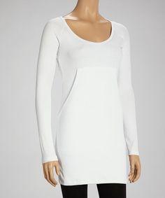 Look what I found on #zulily! White Pocket Tunic #zulilyfinds