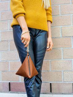 burda style, In allen drei Ecken ... , ... muss Style drinstecken! Diese Mini-Tasche aus weichem (Kunst)Leder begleitet dich jetzt Tag und Nacht.
