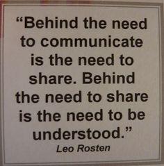Communication....
