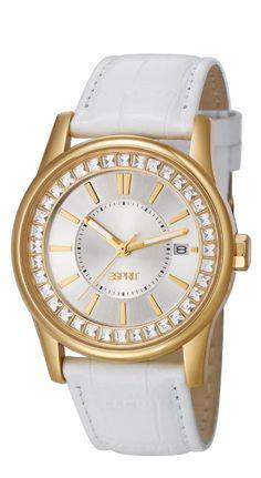 women's watches:  Best white watches for women Esprit ES105452003 Ladies Starlite Watch