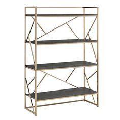 Furniture of America Nara Contemporary 4-Shelf Open Bookshelf