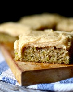 Gluten Free Zucchini Bars with Browned Butter Frosting