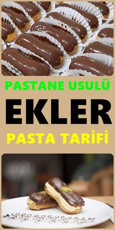 Patisserie Inserts - It is very easy to make the eclairs cake that we love bakeries and dessert shops at home. Easy Cake Recipes, Dessert Recipes, Desserts, Pastry Shop, Turkish Recipes, Eclairs, Copycat Recipes, Kids Meals, Nutella