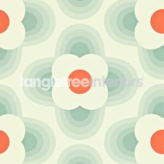 Striped Petal wallpaper from the Orla Kiely collection from Harlequin