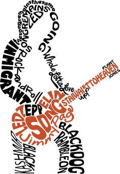 caligrama de rock - Buscar con Google