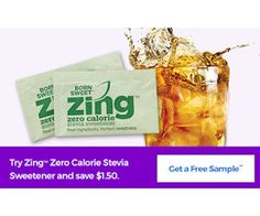 Walmart is giving away Free Samples of Zing Zero Calorie Stevia Sweetener! Click the 'Get a Free Sample' button on the lower right of the page and then fill in the free sample form.  Finding the right sugar substitute was just made a bit easier. http://ifreesamples.com/free-zing-zero-calorie-stevia-sweetner-2/