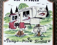 Class C motorhome personalized signs outdoor by welcomesigns Camping Hacks With Kids, Camping Ideas, Camping Checklist, Camping Gifts, Rv Camping, Kendall, Camping Signs Personalized, Best Exterior House Paint, Camper Signs