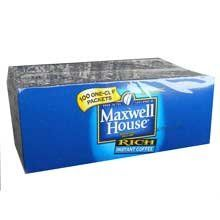 Maxwell House Instant Coffee - 100 single serve envelopes per box >>> See this great product.