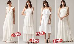 High street store Whistles, a favourite with Kate and Pippa Middleton, has unveiled its first bridal collection, launching in February 2017. All the dresses - and one jumpsuit cost under £700.