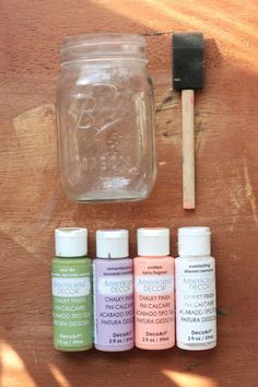 The Pretty Life Girls show how to use chalk paint to DIY your own gorgeous mason jars.