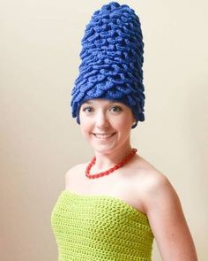 Marge Simpson Crocheted Costume (Homer too!)