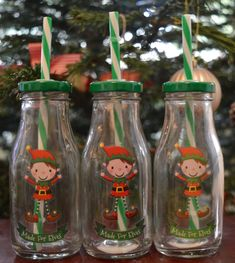 How to Create a Magical Personalised Christmas Eve Box with GettingPersonal.co.uk including ideas for what to put inside. - elf milk bottles