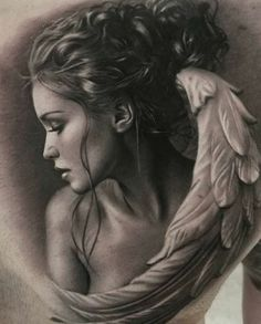 What you guys think ? Bild Tattoos, Body Art Tattoos, Sleeve Tattoos, Angel Artwork, Angel Drawing, Religious Tattoos, Angel Pictures, Chicano Art, Inked Magazine