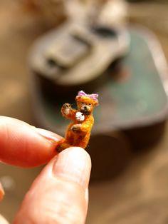 Hand sewn miniature bear