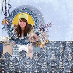 This is for Elizabeth's November 2016 Spotlight The Collab Challenge.  I used the November 2016 Cold Morning Collab Kit by ScrapBird Designers, and Feature One Photo Quick Click by Elizabeth's Market Cross (not in store).