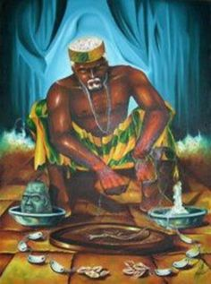 Orunmila, also known as Ifa, is the orisha of divination who, along with… Ifa Religion, Yoruba Religion, African American Art, African Art, Oshun Goddess, Goddess Art, Yoruba Orishas, Ying Y Yang, African Mythology