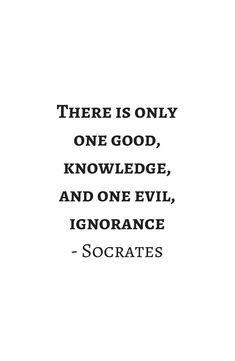 Greek Philosophy Quotes - Socrates - There is only one good - knowledge Framed Art Print by InpireMe - Vector Black - MEDIUM (G Socrates Quotes, Aristotle Quotes, Wisdom Quotes, Words Quotes, Faith Quotes, Quotes Quotes, Rumi Inspirational Quotes, Motivational Quotes, Plato Quotes