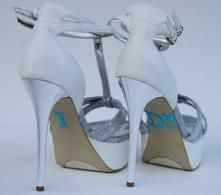 Unik Occasions - Crystal Rhinestone I Do Wedding Ring Shoe Stickers - Blue