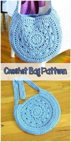 Crochet Bag Pattern, - knitting is as easy as . Crochet Bag Pattern, – knitting is as easy as 3 Knitting boils down Bag Crochet, Crochet Handbags, Crochet Purses, Crochet Pattern, Cotton Crochet, Crochet Purse Patterns, Diy Bags Patterns, Crochet Shoulder Bags, Handmade Bags