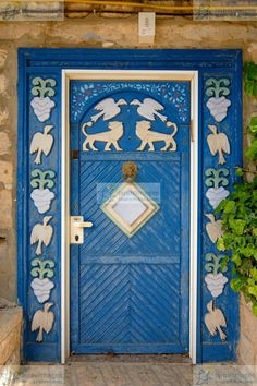 Decorated Door in Tzfat (Safed), Israel