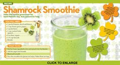 Fun and nutritious shamrock smoothie at National Geographic Little Kids.
