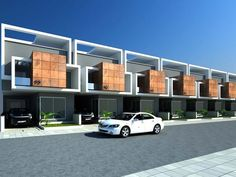ICYMI: Modern terraced house design Philippines Source by massoundh House Floor Design, House Outside Design, Bungalow Haus Design, Duplex House Design, Townhouse Exterior, Modern Townhouse, Residential Architecture, Architecture Design, House Design Pictures