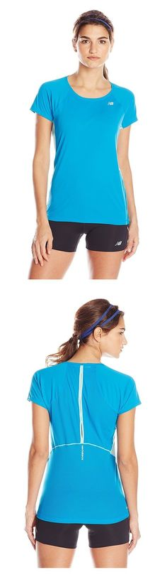 $39.95 - New Balance Women's NB Ice Short Sleeve Shirt Wave Blue #newbalance