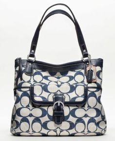 COACH POPPY SIGNATURE C CROSSHATCH CANVAS GLAM TOTE - Poppy Collection - COACH - Macy's