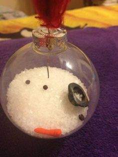 melted snowman ornament by jillhogan on craftster