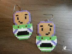 Buzz Toy Story earrings hama mini beads by KarinMind on deviantART