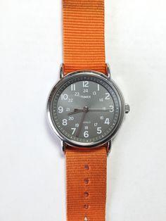 Timex Weekender - Grey/Orange