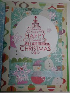 #christmascard #card #papercrafting #cardmaking #stamping #winter #christmas #snowman #christmastree