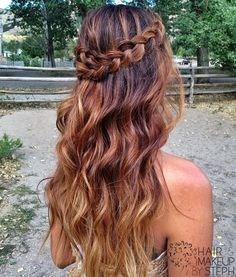 dutch braid half up - Google Search