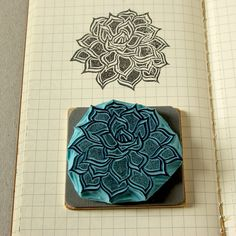 Succulent rubber stamp for your imaginary garden by CassaStamps, $13.00