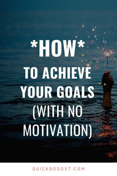 Motivation is great, but you can't rely on it to help you achieve your goals. Instead, when it comes to goal setting you need a consistent, reliable system. #goals #goalsetting #motivation Productive Things To Do, Things To Do At Home, Things To Come, Achieving Goals, Achieve Your Goals, Lack Of Motivation, Goal Planning, Time Management Tips, Trying To Lose Weight