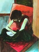 Woman reading by Vasile Ion