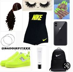 Cute Nike Outfits, Cute Lazy Outfits, Swag Outfits For Girls, Teenage Girl Outfits, Teen Fashion Outfits, Girly Outfits, Trendy Outfits, Dope Outfits, Tween Fashion